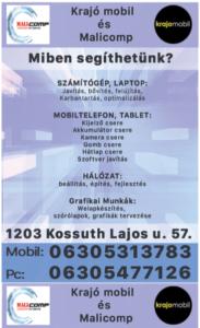 Krajó Mobil és Malicomp Szórólap